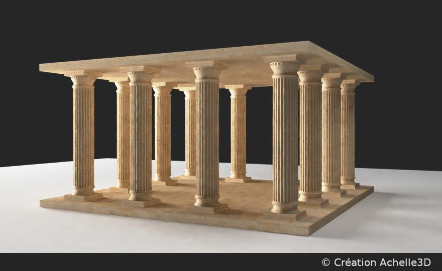 élément de monument antique par achelle3d