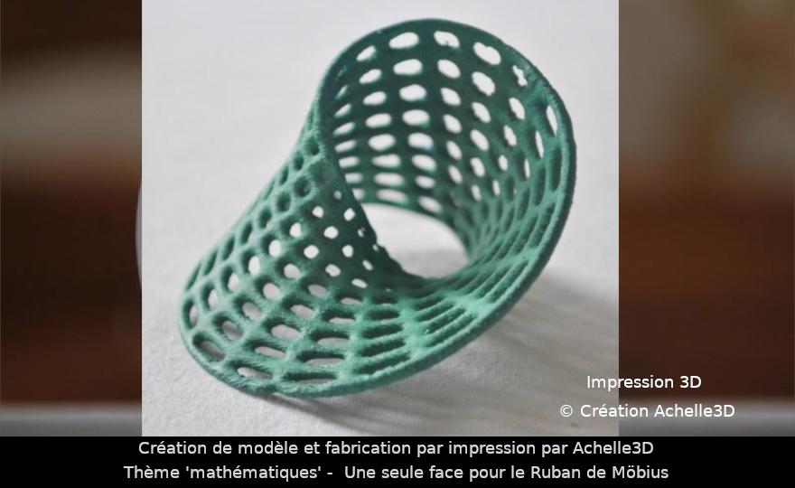 mathematiques - ruban mobius - impression et création achelle3D